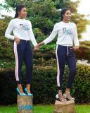 Leissure Autumn Winter Long Sleeves Tops Sports Pants Sets DN8291