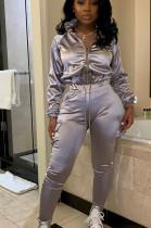 Autumn Bodycon Clothes Pure Color Hot Sale Women Sets LD8793