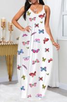 Casual Butter Graphic Sleeveless Round Neck Slip Dress LYY9256