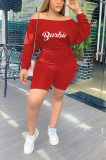 Sets Cute Sporty Sexy Letter Cap Sleeve Strappy