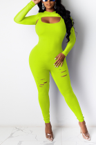 Casual Night Out Boho Sexy Long Sleeve Bodycon Jumpsuit