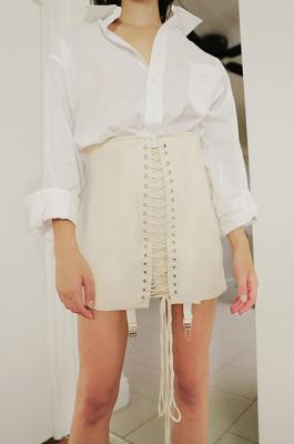 Casual Cute Sexy Pop Art Print Above Knee / Short Skirt