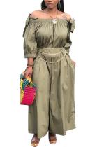 Casual Modest Elegant Off Shoulder Long Sleeve Long Dress