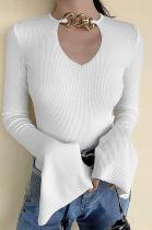 Casual Sexy Long Sleeve Crop Top