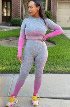 Casual Polyester Long Sleeve Tee Jumpsuit KSN8017