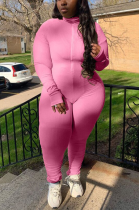Casual Basics Simplee Extra-Long Sleeve High Neck Bodycon Jumpsuit TZ6016