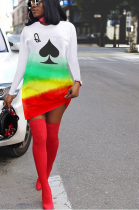 Casual hot style fashion print dresses ED8281