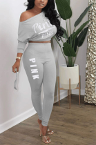 Casual sports Leisure letter two-piece set MTY6315