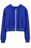 Casual Pure Color Sporty Simplee Long Sleeve Hoodie JHH0043