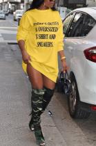Blazer Sporty Simplee Letter Long Sleeve Round Neck Mini Dress DN8536