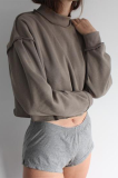 Casual Basics Simplee Long Sleeve Round Neck Crop Top JHH0036