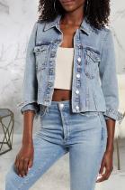 Casual Basics Simplee Half Sleeve Denim Jacket SMR9729