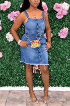 Casual sexy slim jean dress JLX6025