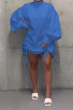 Casual fashion long sleeve blouse skirt N8002