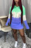 Casual Cute Simplee Long Sleeve Flat Pocket Hoodie Dress CM793