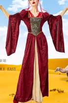 Traditional Arab Middle Eastern Luxury Bridal Gown Dress PS1587
