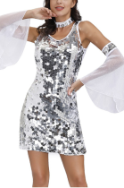 Night Out Sexy Sequins Slip Dress PS4510