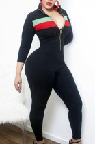 Sexy Polyester Cultivate One's Morality Front Zipper Jumpsuits YR8005