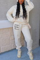 Casual Sporty Letter Long Sleeve Hoodie Long Pants Sets DMM8156