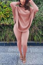 Casual Basics Simplee Long Sleeve High Neck Long Pants Sets MR2070