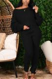 Casual Simplee Long Sleeve Batwing Sleeve Long Pants Sets MA6620