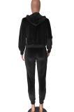 Casual Preppy Simplee Half Sleeve Hoodie Sweat Pants Sets MN8328