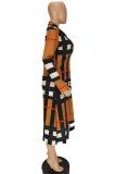 Casual Modest Simplee Buffalo Plaid Long Sleeve Longline Top MN8326