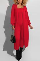 Modest Basics Long Sleeve Longline Top Jumpsuit Sets QQM4129