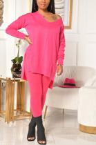 Casual Modest Long Sleeve V Neck Long Pants Sets ML7383