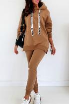 Casual Sporty Long Sleeve Hoodie Long Pants Sets OMY8093