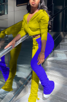 Casual Sporty Long Sleeve Waist Tie Hoodie Long Pants Sets ZY8088