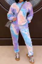 Thickened Fabric Tie Dye Casual Printing Fleece Two-Piece LML184