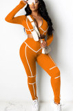 Pure Color Tight Casual Sexy Spliced Sets MY9695