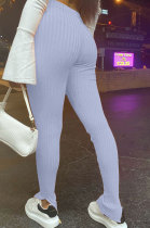 Mid Waist Cultivate One's Morality Open Fork Tight Sexy Cotton Trousers H1560