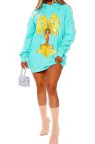Casual Fleece Fashion Hooded Fleece Dress OQX3883