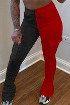 Color Matching Pocket Fashion Joker Pants OQX3882