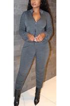 Sexy Simplee Long Sleeve Shirred Detail Ruffle Long Pants Sets HG085