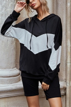 Casual Simplee Long Sleeve Hoodie Shorts Sets LD8899