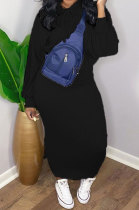 Printing Set Head Hooded Fleece Long Dress Sport Sets R6376