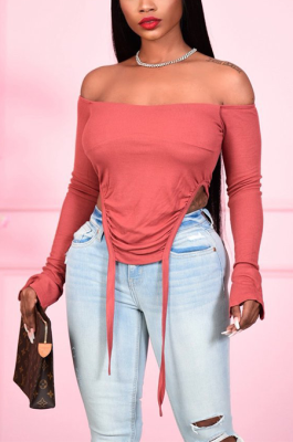 Sexy Simplee Long Sleeve Off Shoulder Shirts N9263