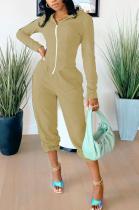 Casual Sporty Long Sleeve Hoodie Zipper Irregular Coat Pants Sets SM9130
