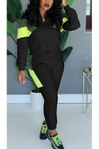 Casual Modest Long Sleeve Spliced Long Pants Sets KSN5091