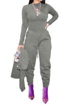 Womenswear Fashion Sport Jog Pure Color Casual Pants W8349