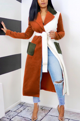 Casual Simplee Long Sleeve Lapel Neck Coats SN390046