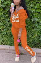 Sexy Letter Long Sleeve Hoodie Sweat Pants Sets TD5009