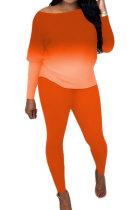 Womenswear Tie Dye Gradient Off Shoulder Home Service Casual Sets AMM8306