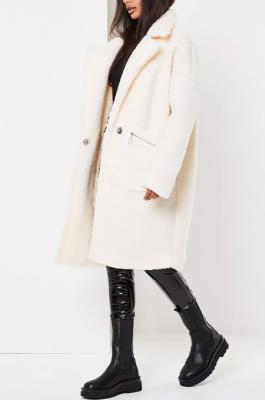 Casual Simplee Tweed Long Sleeve Lapel Neck Coats YS458