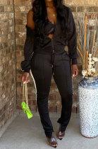 Womenswear Fashion Ankle Strap Open Fork Zipper Two-Piece XUY9068