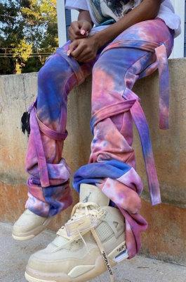 Fashion Casual Joker Tie Dye Bind Long Pants YLY188