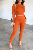 Casual Simplee Long Sleeve Round Neck Long Pants Sets MA6270